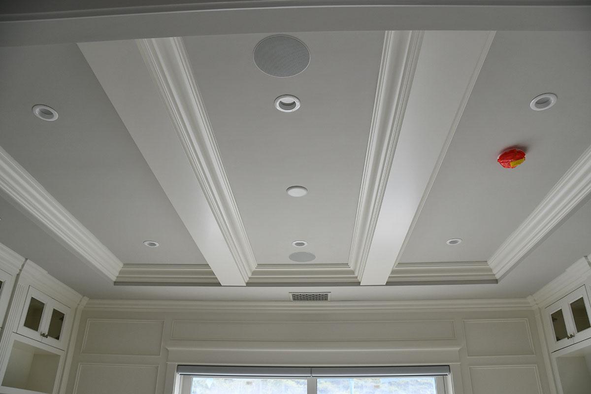 repainted ceiling