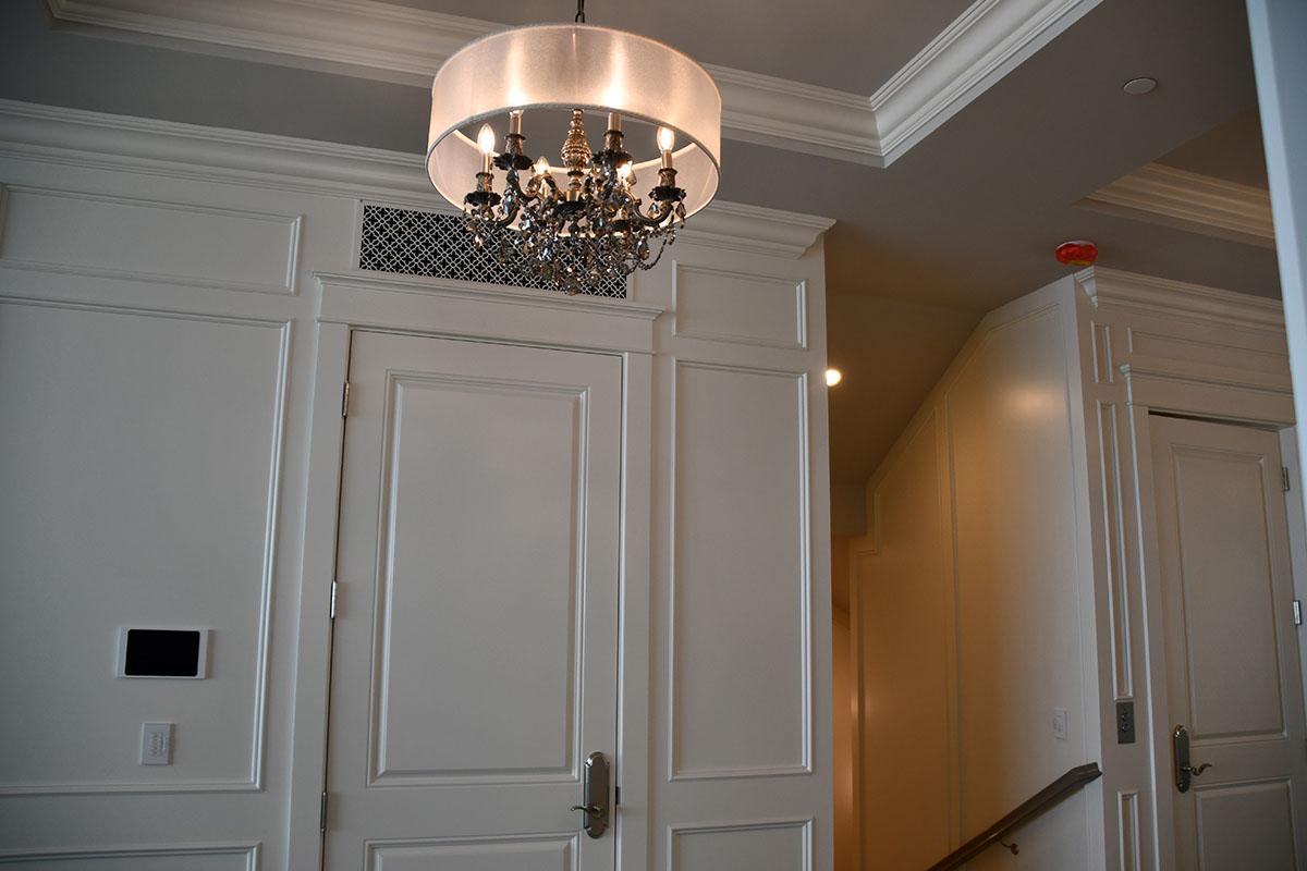 repainted hallway